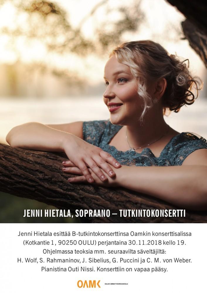 Jenni Hietalan tutkintokonsertin juliste