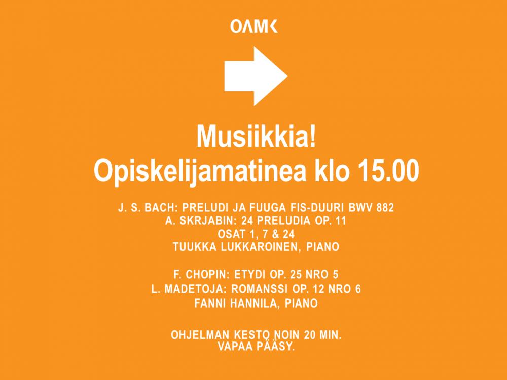 Musiikkia! 14.10. ohjelma